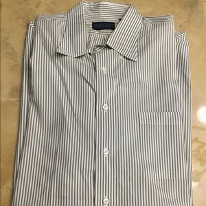 LANDS END PINPOINT OXFORD MENS SHIRT